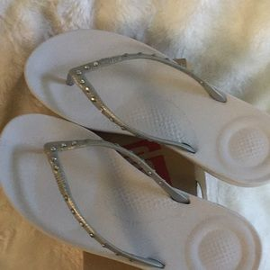 Fitflop Iqushion Ergonomic Crystal Flip Flops